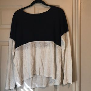 madewell black and white color block long sleeve